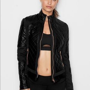 Victoria Sport faux leather quilted Moto jacket